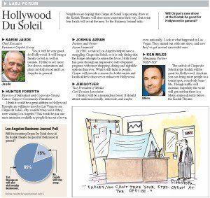 Hollywood Du Soleil - Los Angeles Business Journal (LABJ) Forum - July 11, 2011
